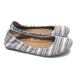 Lucky Brand striped canvas flats